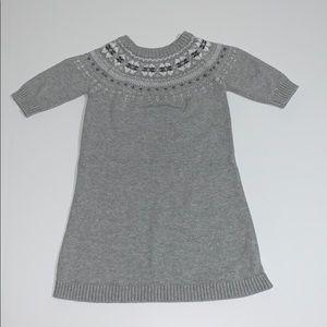 Like New! Carter's Girl's Sweater Dress, Gray, 5
